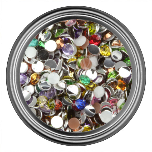 Mix Resin Rhinestone Gem 2mm 3mm 4mm 5mm 6mm 7mm  Flat Back - Nail Art Crystal