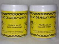 2-pack-pomada Veneno De Abeja & Arnica-analgesic Bee Venom & Arnica Ointment 4oz