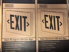 Dual Lite Sempra Aluminum Die Cast Exit Double Face Emergency Sign SEDRBNE