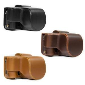Details about MegaGear Leather Camera Case For Panasonic Lumix DMC G85(12 60mm) with Strap