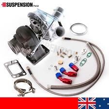 New T3 T4 TO4E Turbo Turbocharger 420HP  + Oil Line Kit for Nissan TD42 Safari