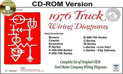 1976 ford truck wiring diagrams cd rom bronco courier. Black Bedroom Furniture Sets. Home Design Ideas