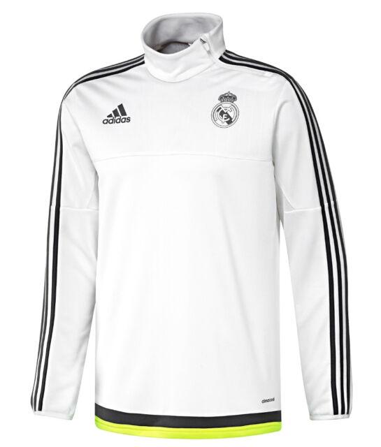 647e727cc49 Adidas Performance Mens Real Madrid Football Training Top Warm Up Sweatshirt  New