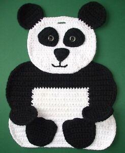 Häkelanleitung Topflappen Pandabär Panda Motivtopflappen Häkeln Ebay