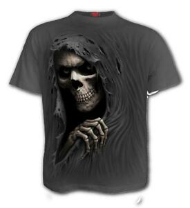 Spiral-Direct-GRIM-RIPPER-T-Shirt-Charcoal-Gothic-Reaper-Tribal
