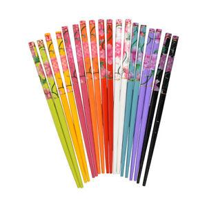2-Colorful-Hair-Sticks-with-Pretty-Flower-Design-Women-039-s-Hair-Chopstix