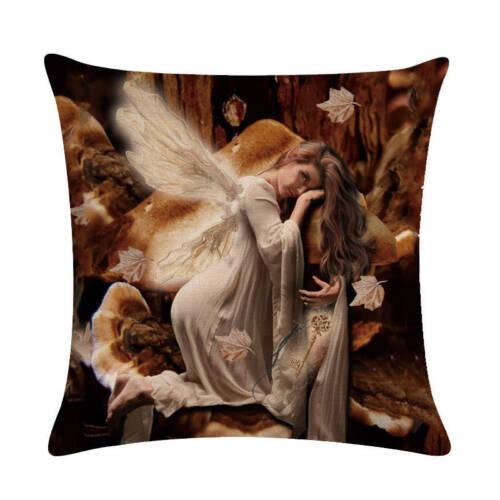 Insects Fairy Elf Linen Cotton Pillow Case Sofa Throw Cushion Cover Home Decor