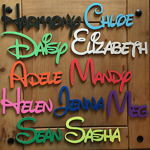 Disney personalised wooden name plaques words letters wall for Furniture 5 letters word whizzle