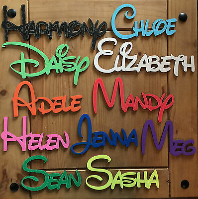 DISNEY Wooden Words/Letters wall art gift Personalised Names Wedding/Home/Gift