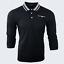Para-hombre-Plain-Pique-Polo-Gavin-camisa-de-mangas-largas-Top-Calido-Azul-Marino-De-Golf-S-M-L-XL miniatura 22