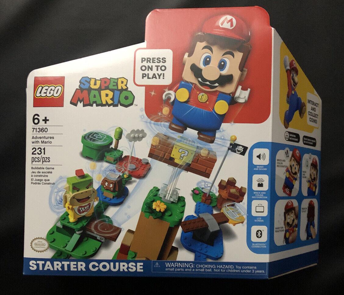 NEW//SEALED 71360 LEGO Super Mario Adventures Mario Starter Course 231 pieces