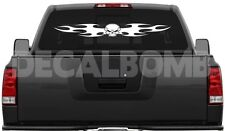 #002 TRIBAL SKULL windshield anywhere decal / sticker for car truck 40 x 4.5""