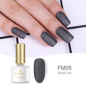 BORN-PRETTY-28-Colors-Matte-Nail-Gel-Polish-Soak-Off-UV-Gel-Varnish-DIY-Black