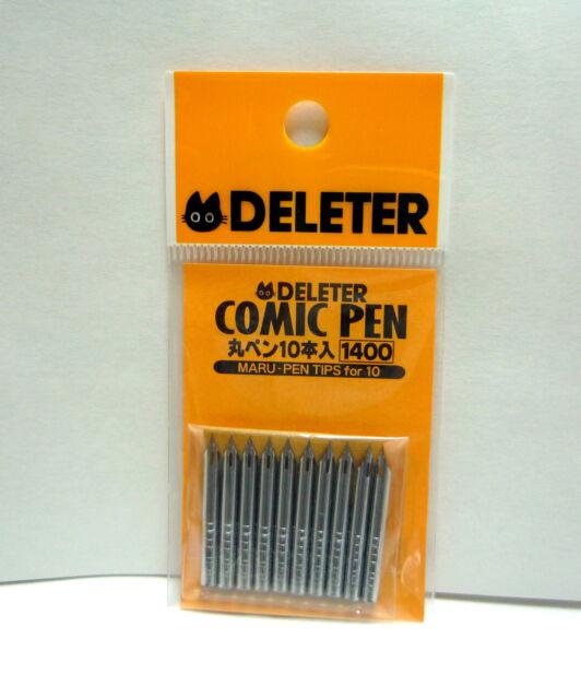DELETER Maru-Pen Nibs 10 pieces / Manga Comics Supplies / Comic Pen