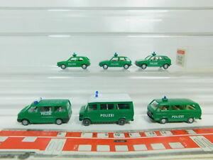 Bo536-0-5-6x-Wiking-h0-1-87-policia-modelo-104-VW-Golf-MB-etc-muy-gut-1x-OVP