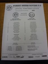23/04/2016 Teamsheet: Forest Green Rovers v FC Halifax Town (folded). Bobfrankan