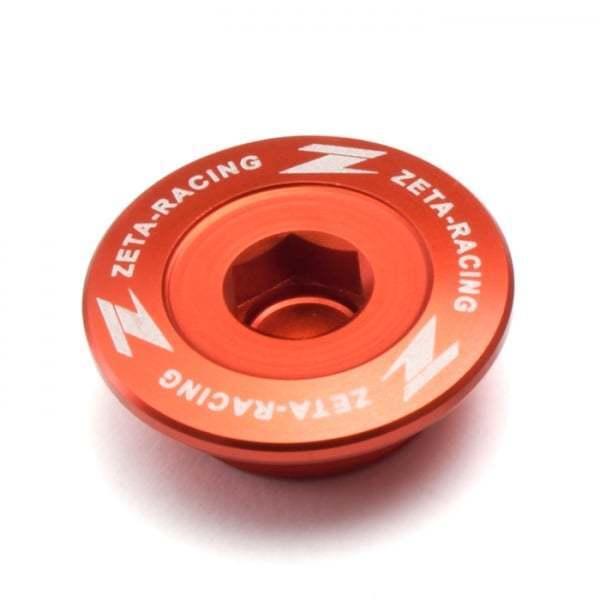 ZETA Anodised Oil Filler Plug To Fit KTM All 250/ 350/ 450/ 505 Models - 2007-16