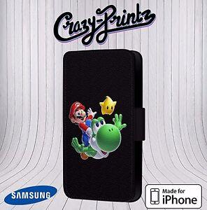 Super-Mario-et-Yoshi-Cool-pour-Iphone-Samsung-Etui-Housse-Clapet-Cuir-D115
