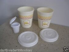 FISHER PRICE FOOD McDONALDS SODA FOUNTAIN ● PLASTIC COFFEE CUPS + LIDS + CREAM