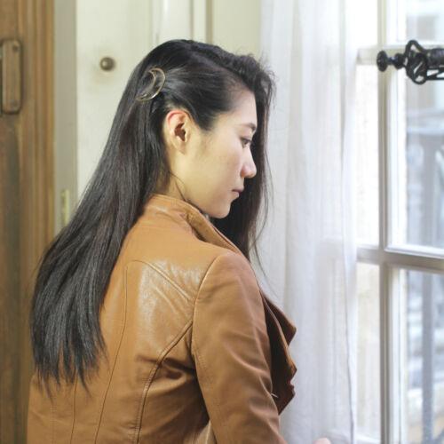 Epingle à Cheveux Doré Géométrique Lune Metal Simple Retro Original