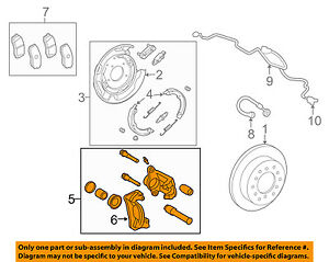 toyota oem 07 15 tundra rear brake disc caliper 478500c010 ebay rh ebay com 2001 toyota tundra rear brake diagram