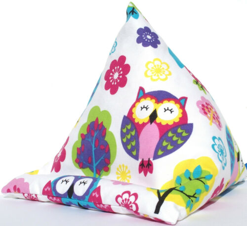 OWLS SLEEPY Resting ow cushion stand beanbag for Kindle ereader Ipad Tablet