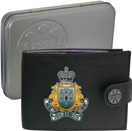 The Royal Gibraltar Regiment Army on Mens Wallet Real Leather RFID Chain