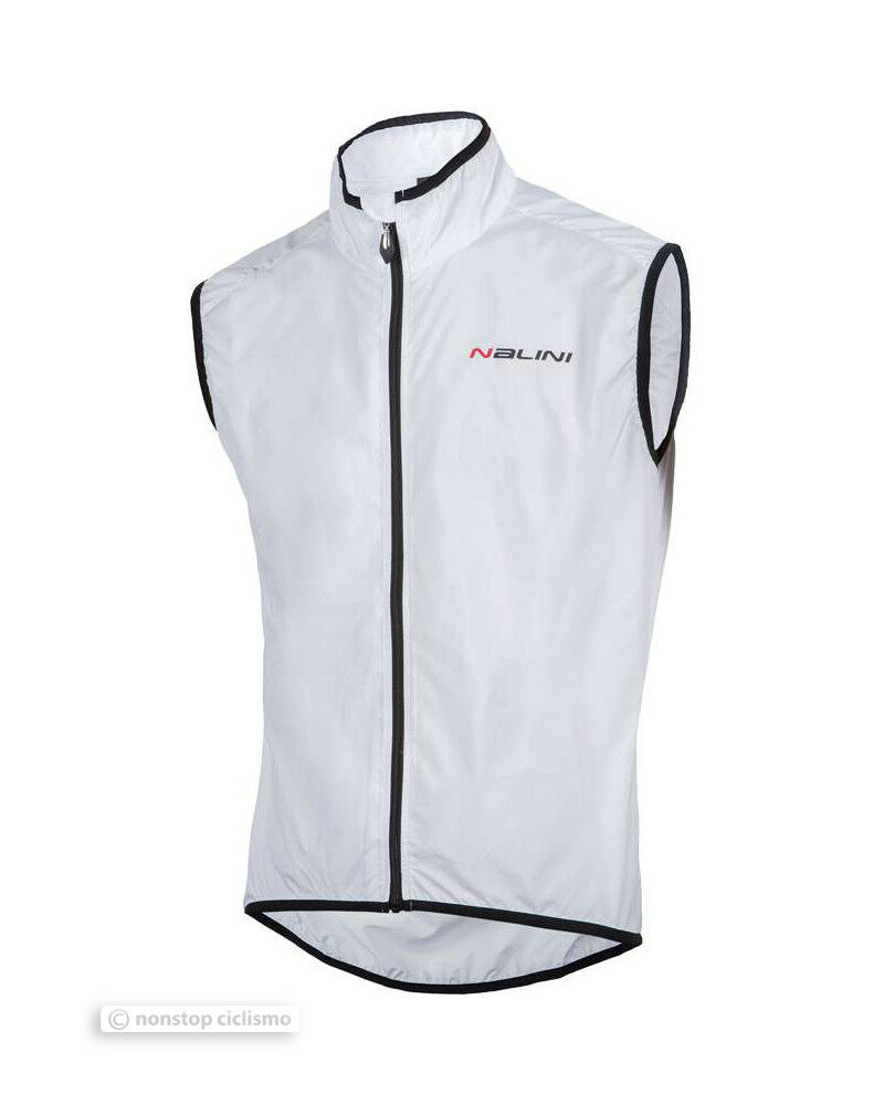 Nalini ARIETTA Full Season Wind Proof Cycling Vest   WHITE