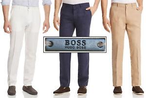NWT-Hugo-Boss-Black-Label-By-Hugo-Boss-Linen-Straight-Fit-Pants