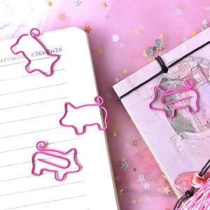 4x-Pig-Pink-Bookmark-Paper-Clip-School-Office-Supply-Escolar-Gift-Stationer-YT