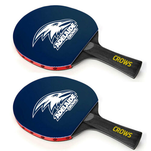 2x Summit Australia Adelaide Crows Table Tennis Bat Game//Training//Competition