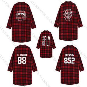 KPOP-BTS-Shirt-Bangtan-Boys-Vixx-GOT7-Bigbang-G-Dragon-Three-Quarter-Sleeve-Coat