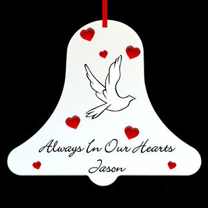 Personalised Bell In Memory Memorial Christmas Tree ...