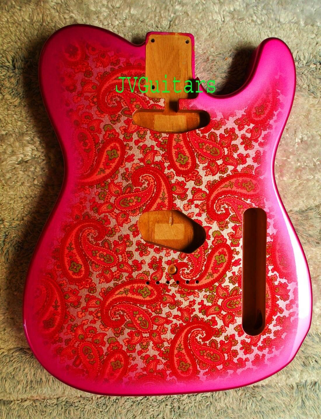 1969 Paisley Tel Clásico Paisley rosado nos nos nos cuerpo orden suya Wow  jvguitars eb4148