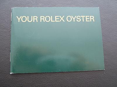 ROLEX  OYSTER  BOOKLET - LAGERWARE/NOS - ENGLISCH  ° 2003 °