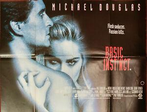 Basic Instinct 1992 Uk Quad Poster Sharon Stone Michael Douglas Ebay