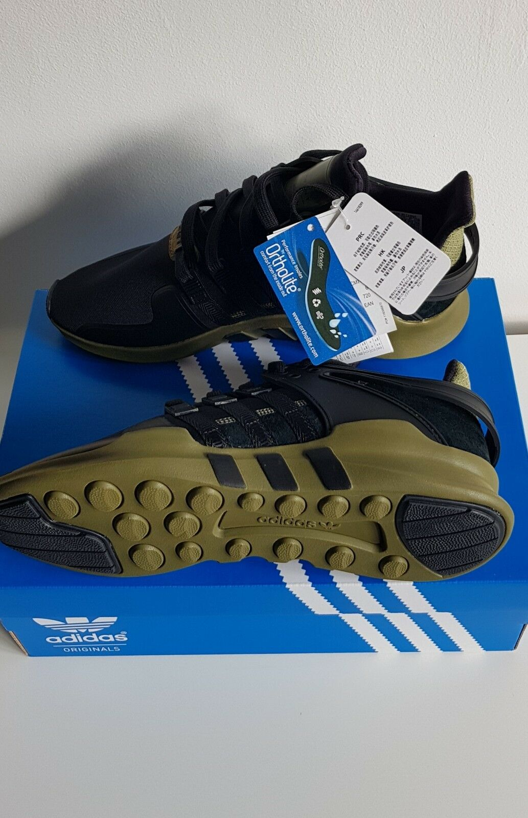 Adidas EQT Support ADV Olive 91 16 Noir Olive ADV Cargo Homme Taille 10 CM7415 d016ed