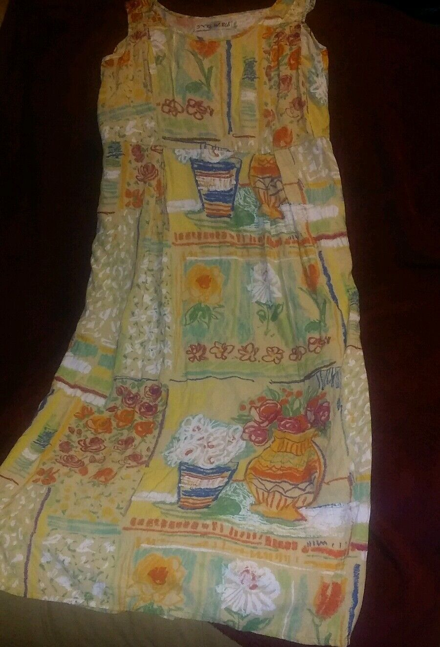 Jams World Blumenmuster Vase Farbstift Style Gr.xs Strand Cruise Wear Coverup