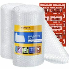 Bubble Cushioning Wrap Roll 2 Rolls 36 Feetroll Perforated Every 12 Free Ship