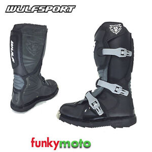 Details about Wulfsport LA Motocross Boots for Children MX Quad Motorcycle Waterproof Black show original title
