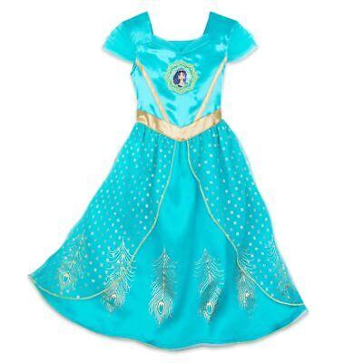 NWT Disney Store Jasmine Nightshirt Girl Pjs Pajamas Aladdin 4,5//6,7//8,9//10