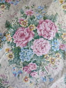 7 5 Yds 54 Large Print Cottage Garden Roses Floral Fabric