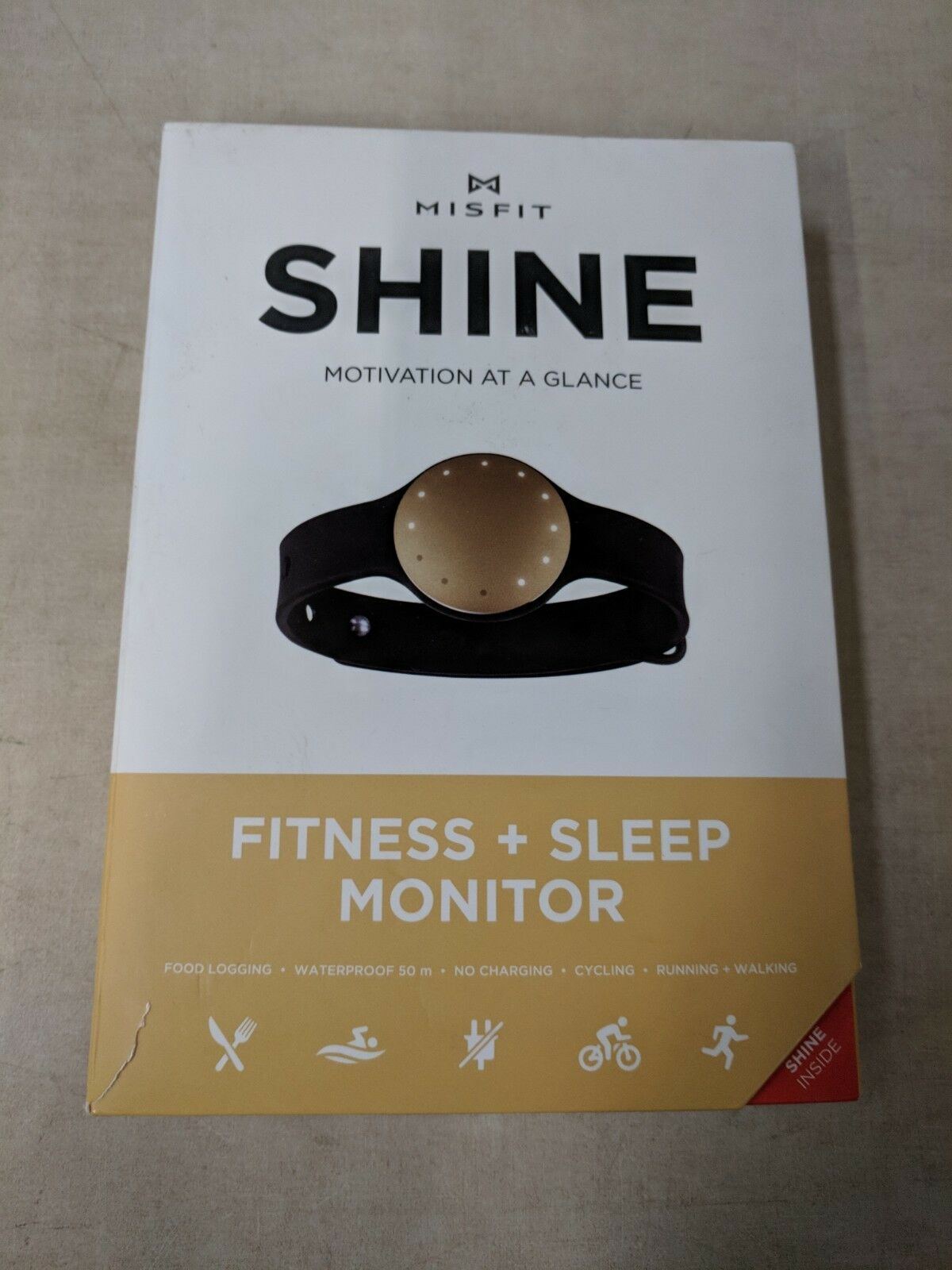 Misfit Shine Fitness + Sleep Monitor Champagne