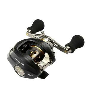 High Quality 12BB 6.3:1 Right Hand Baitcasting Fishing Reel Aluminum Spool USA