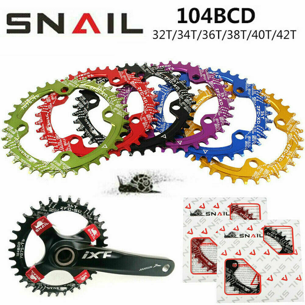 Bike Narrow Wide Round Oval BCD 104mm Chainring Ring 32T 42T Tooth Chainwheel
