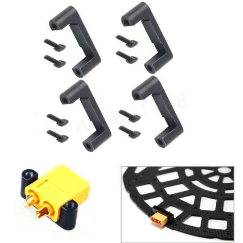 4x CNC XT60 XT90 Plug Holder Connector Installation Bracket for RC Multicopters