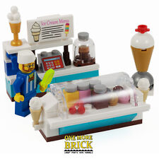 LEGO Ice Cream Shop - Summer Ice Lolly Counter with Minifigure, Fridge & extras