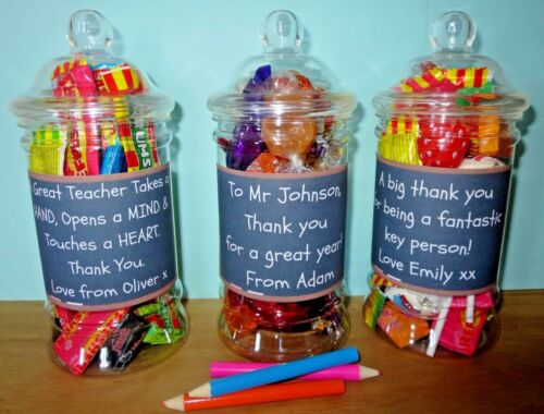 Personalised Teachers Sweet Jars Gifts Teaching assistant Thank you Present
