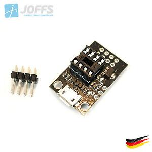 Micro-USB-Programmer-Entwicklungs-Board-fuer-DIP-8-ATMEL-ATTiny-13A-25-45-85