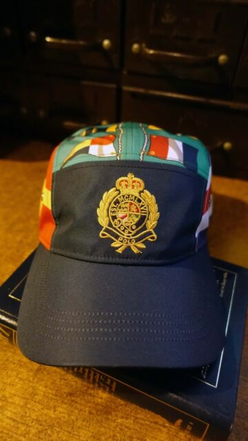 6cbf6af7469c11 POLO RALPH LAUREN CP93 SAILING PRINT CAP REGATTA HAT SNOW BEACH RETRO Crest